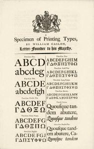 Caslon Specimen from 1785
